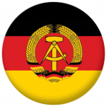 East Germany Flag 58mm Mirror Keyring
